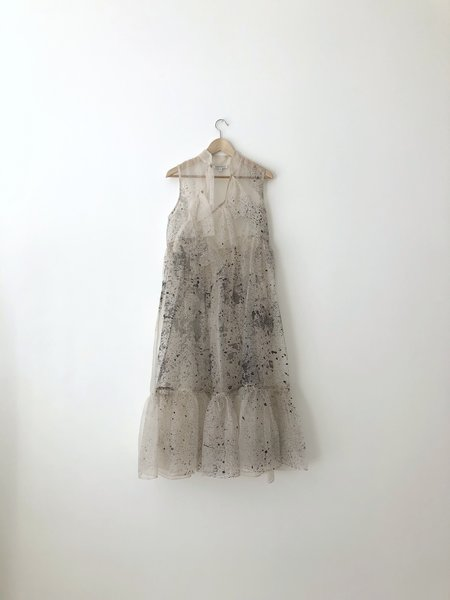 Kamperett MAE SILK ORGANZA DRESS - Mist