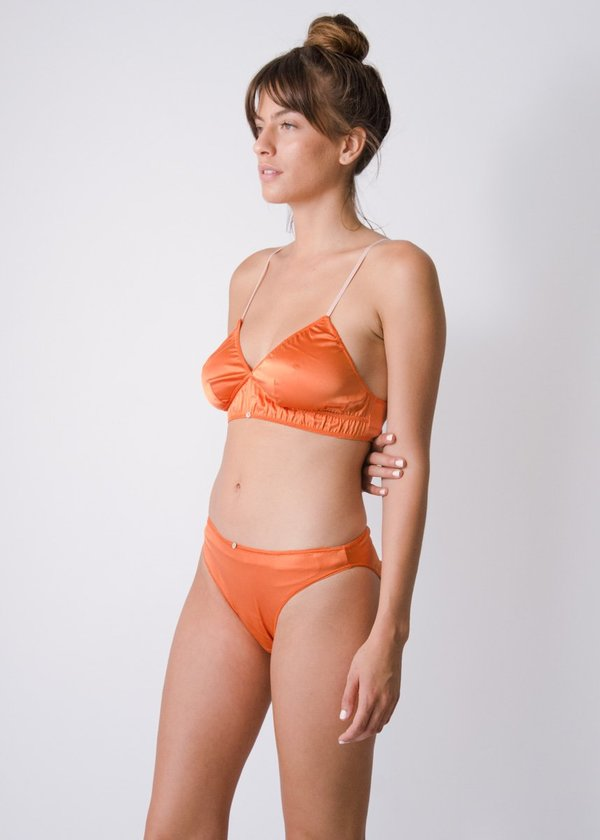 Botanica Workshop Stretch Silk Vina Bralette - Sunset
