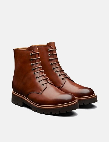 Grenson Hadley Hand Painted Leather Boot - Tan