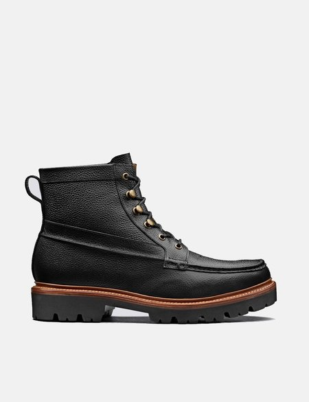 Grenson Rocco Leather Boot - Black