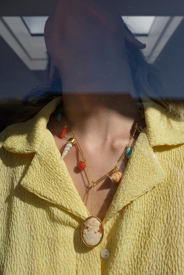 Grainne Morton Handmade Chain Charm Necklace - 18K Gold Plated