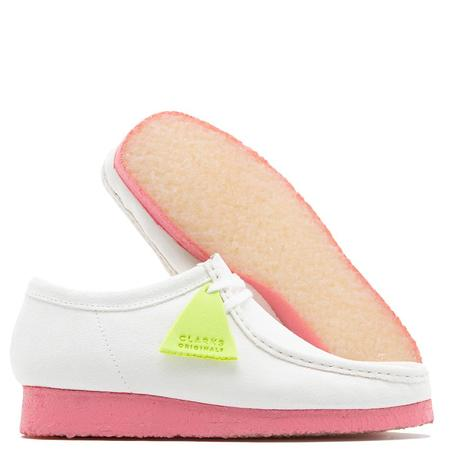 Clarks Originals Wallabee Shoes - Bright White Combi
