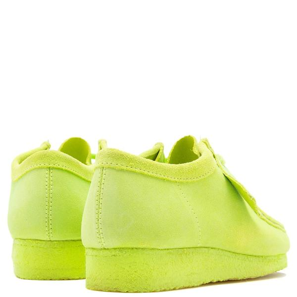 Clarks Originals Wallabee Suede Shoes - Lime