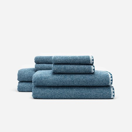 Slowtide Luxe Four Piece Bundle Towel - Navy