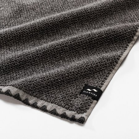 Slowtide Luxe Two Piece Bundle Towel - Charcoal
