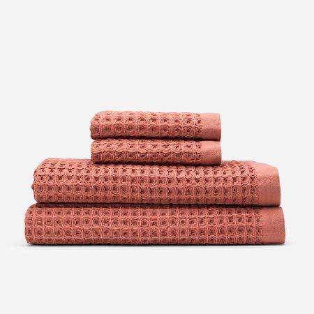 Slowtide Guild Waffle Two Piece Bundle Towel - Terracotta