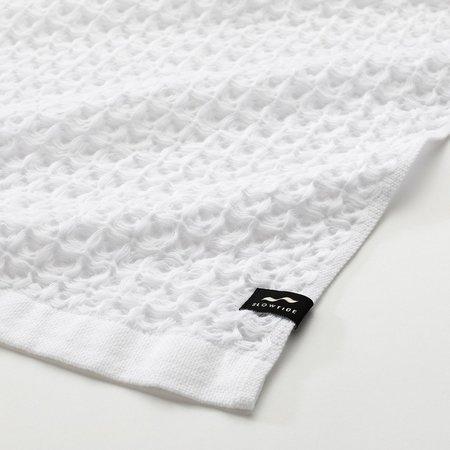 Slowtide Guild Waffle Two Piece Bundle Towel - White