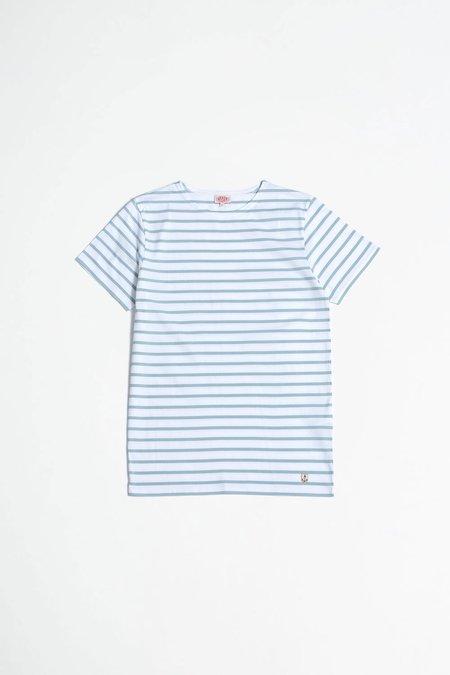 Armor Lux Sailor Shortsleeve Shirt - Blanc/Marsouin