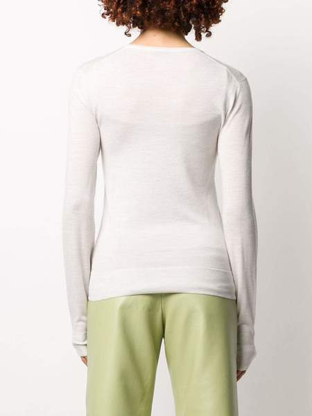 JOSEPH V Neck Fine Merino Sweater - Ivory