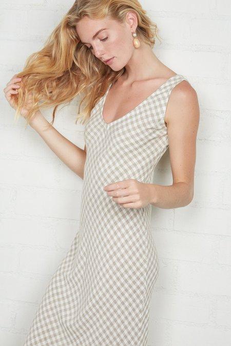 Rachel Pally Linen Bias Dress - Gingham