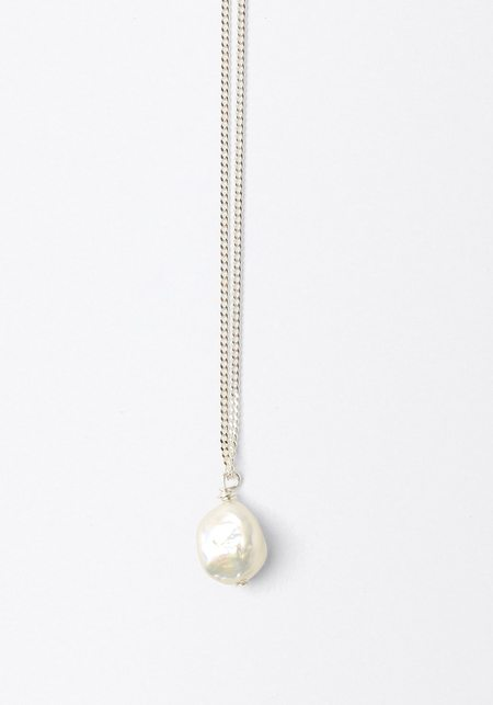 Mars Betty Pearl Necklace - Silver