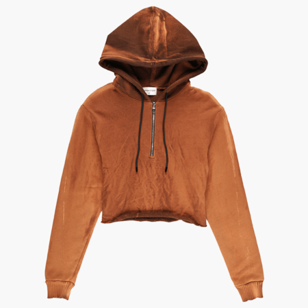 Cotton Citizen Brooklyn Cropped Hoodie - Sand Dune