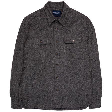 Freenote Cloth Benson Shirt - Charcoal Herringbone