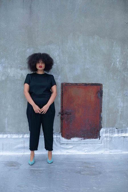 Combine de Filles Le Claudine Jumpsuit - black