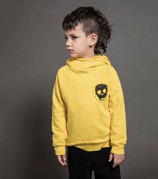 Kids Nununu Ninja Sweatshirt - Dusty Yellow