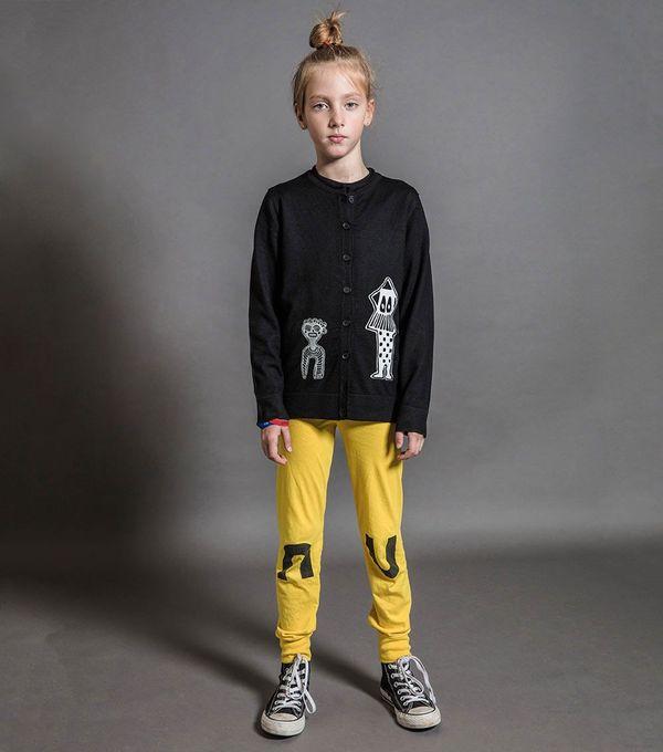 Kids Nununu Leggings - Dusty Yellow