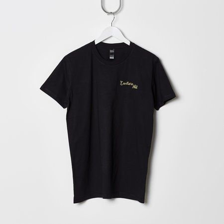 UNISEX Eastern Hill General Supplies Chain Stitch Embroidered Tee - Black/Gold