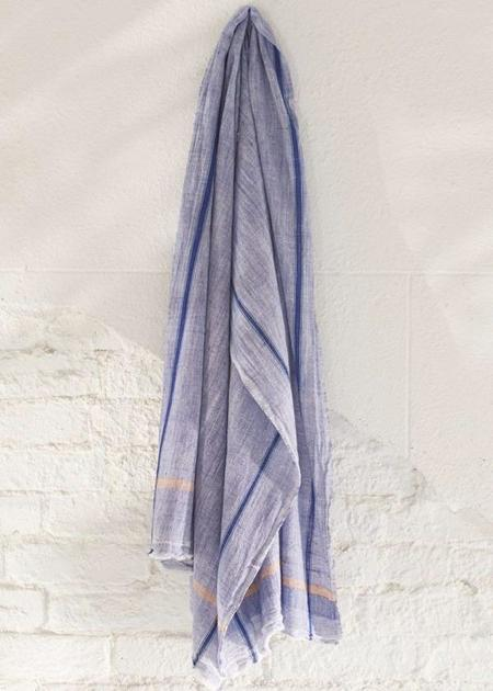 Auntie Oti Khadi Chambray Towel - Indigo