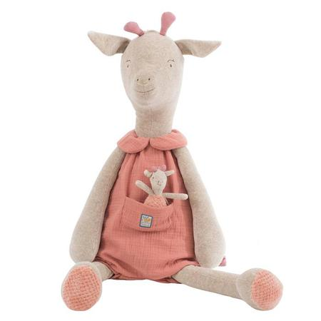 Kids Moulin Roty Sous Mon Baobab Giant Bibiscus The Giraffe Soft Toy With Baby
