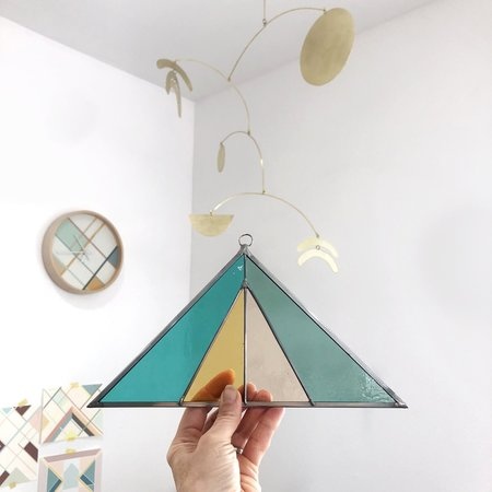 Debbie Bean Triangle Suncatcher - Ocean