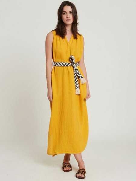 Hartford Roma Linen Dress - Sunflower