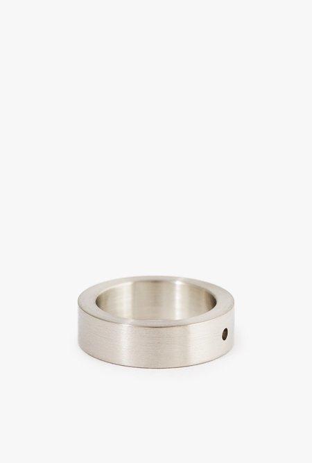 Marmol Radziner Heavyweight Solid Standard Ring - White Brass