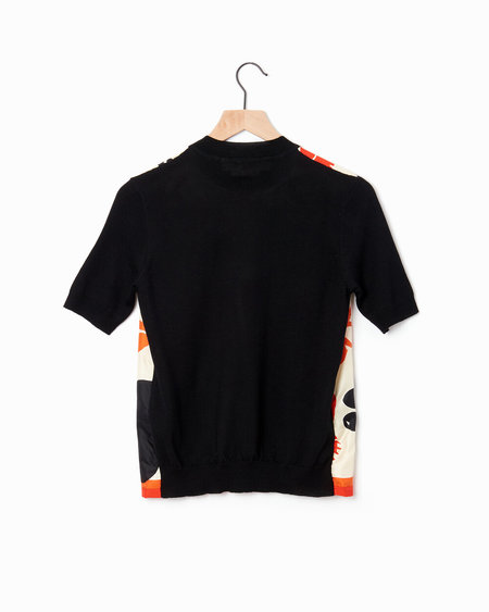 Marni Combo Knit Top - Black/Ivory