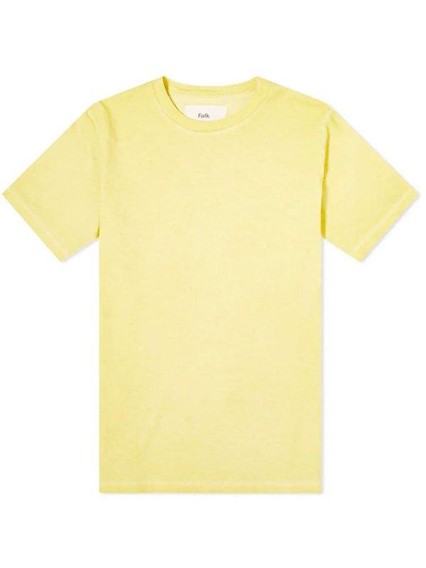Folk Contrast T-Shirt - Light Gold
