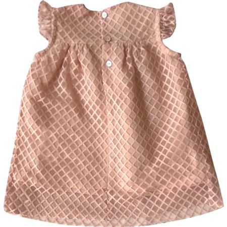 Kids Mademoiselle à soho Dorothy Baby Dress & Bloomer - Pink Tweed