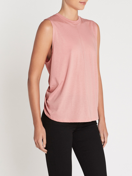 Current Elliott The Pleated Back Muscle - Pink