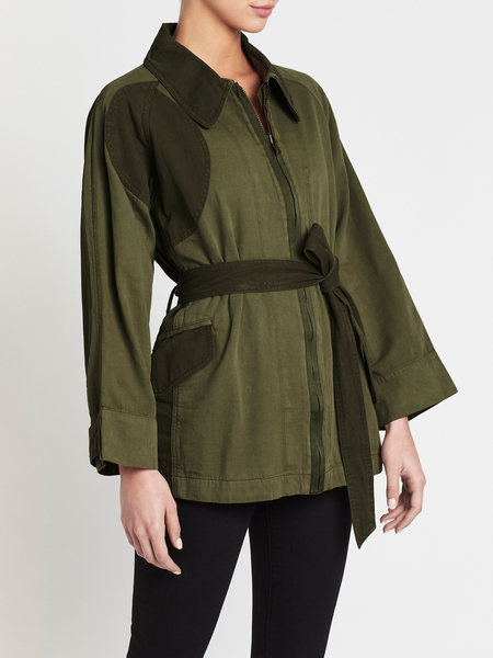 Current Elliott The Relaxed Military Jacket - Green