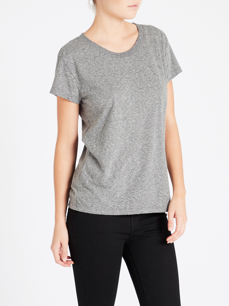 Current Elliott The Relaxed Crew Tee - Gray