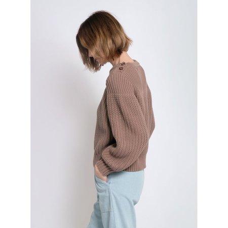 Micaela Greg- Wren Sweater- Mushroom