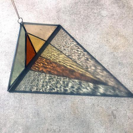 Debbie Bean Triangle Suncatcher - Field