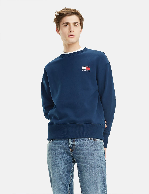Black Iris Tommy Hilfiger Men/'s Cotton Tommy Jeans Logo T-Shirt Regular Fit