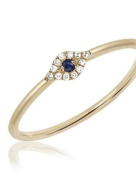 EF Collection Diamond Mini Evil Eye Stack Ring