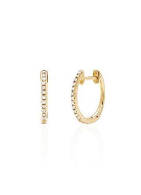 EF Collection Diamond Mini Huggie Earrings
