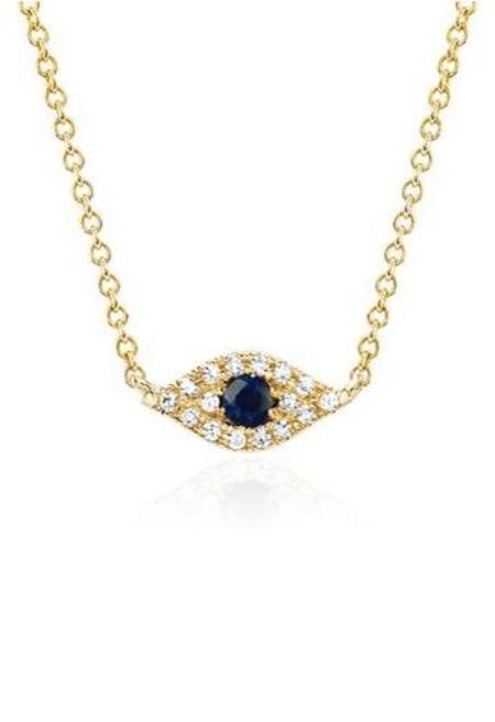 EF Collection Diamond Evil Eye Choker Necklace - YELLOW GOLD