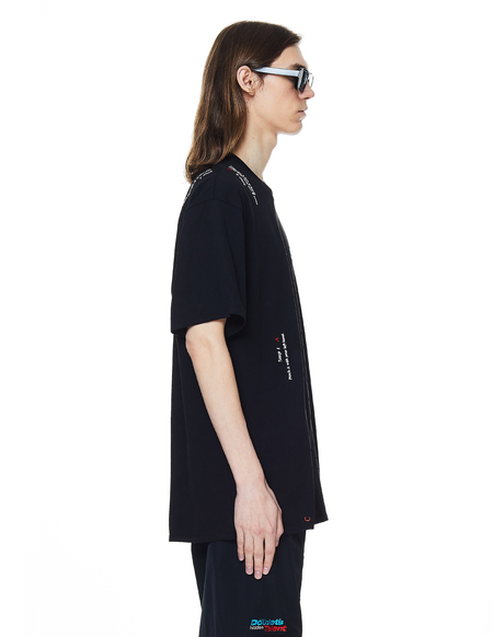 Doublet Instruction Embroidered T-Shirt - Black