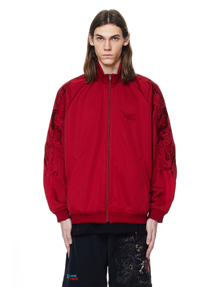 Doublet Embroidered Track Jacket - Red