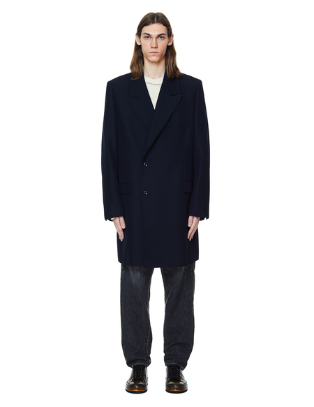 Doublet Jaws Printed Coat - Navy Blue