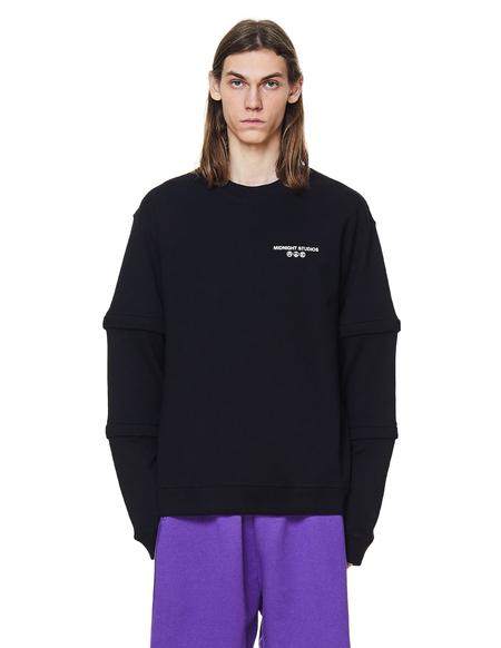 Midnight Studios Layered Sweatshirt - Black Printed