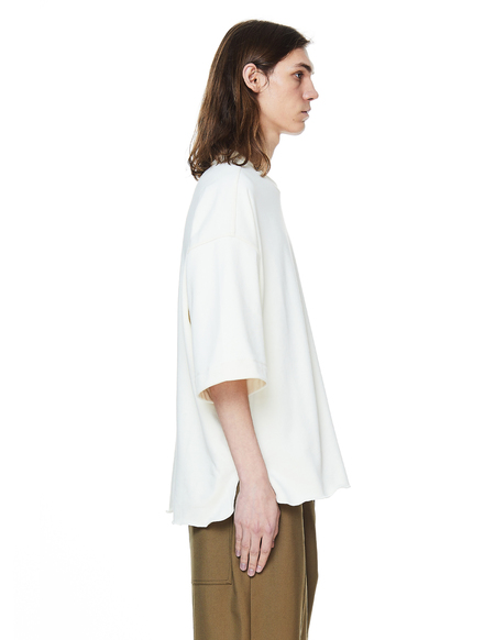 Jil Sander French Terry Cotton T-Shirt - White