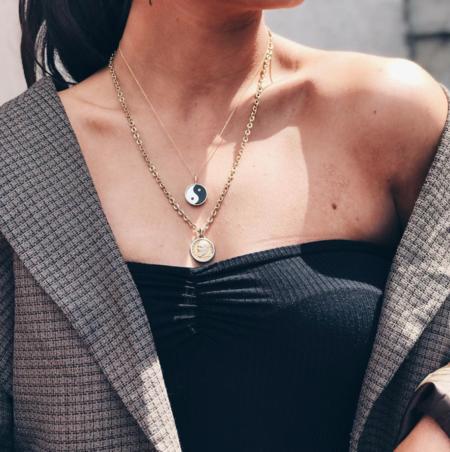 Tarin Thomas Yin Yang Everett Thin Chain Necklace