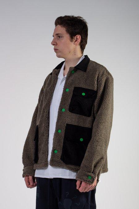 Brain Dead Sherpa Chore Coat - Brown/Black
