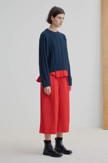 Kowtow Cable Sweater - navy
