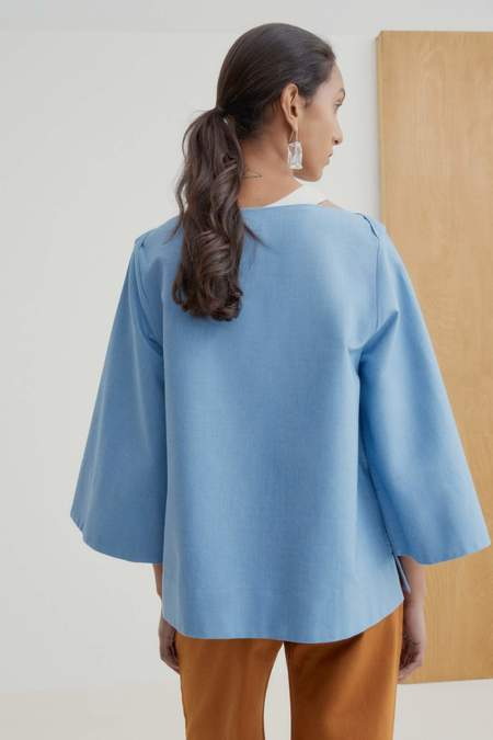 Kowtow Symmetry Top - sky-chambray
