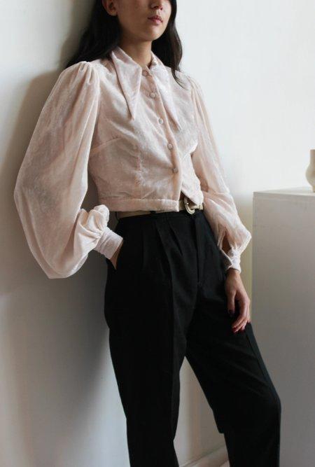 Hannah Kristina Metz sophie blouse - blush