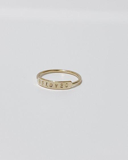 Gem & Blue Beloved Ring - Gold