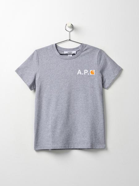 A.P.C. Fire  T-shirt - Gris Chine